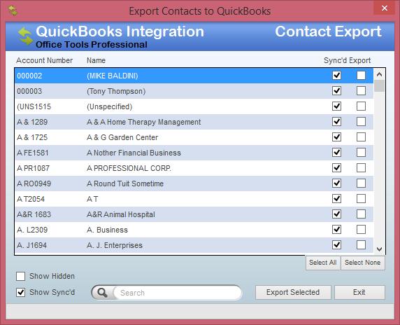 Contact Export