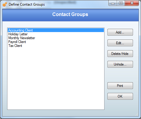 Contact Group Define