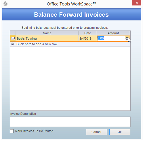 Forward dating invoices